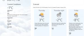 Weather Canada